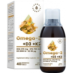 AURA HERBALS Gold Omega-3 D3+K2 mk7 200ml