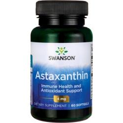 SWANSON Astaxanthin 4mg 60 gels.