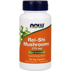 NOW FOODS Rei-Shi Mushrooms 270mg 100 vcaps.