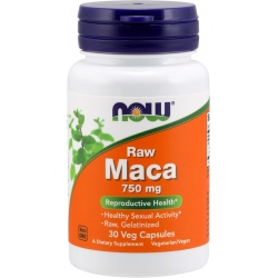 NOW FOODS MACA Raw 6:1 750mg 30 vcaps.