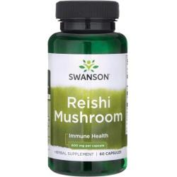 SWANSON Reishi Mushroom 600mg 60 caps.