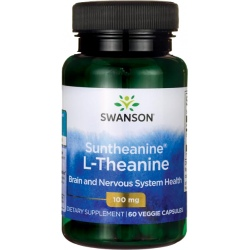 SWANSON Suntheanine L-Theanine 100mg 60 kaps.