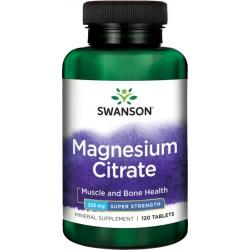 SWANSON Cytrynian magnezu 225 mg 120 tabl.