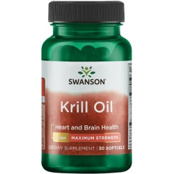 SWANSON Krill Oil Maximum Strength 30 gels.