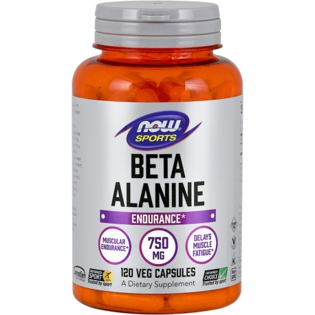 NOW FOODS Beta alanina 750mg 120 weg.kaps