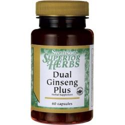 SWANSON Dual Ginseng Plus 60 kaps.