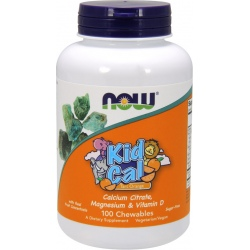 NOW FOODS Kid Cal Trat Orange 100 chewables