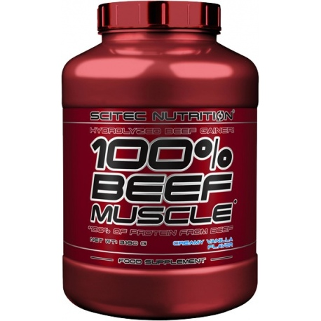SCITEC 100% Beef Muscle 3180g wanilia (31.07.2019)