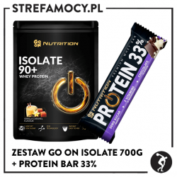 Zestaw Go On Isolate 700g + Protein Bar 32%