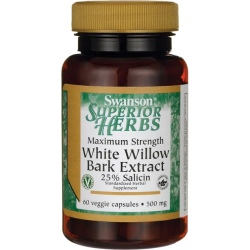 SWANSON Maximum Strength White Willow Bark 500mg 60 kaps.(31.08.2019)