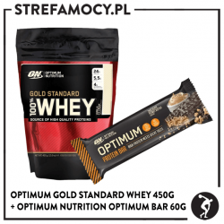 Zestaw Whey Gold 450g + 1 bar ON Bar