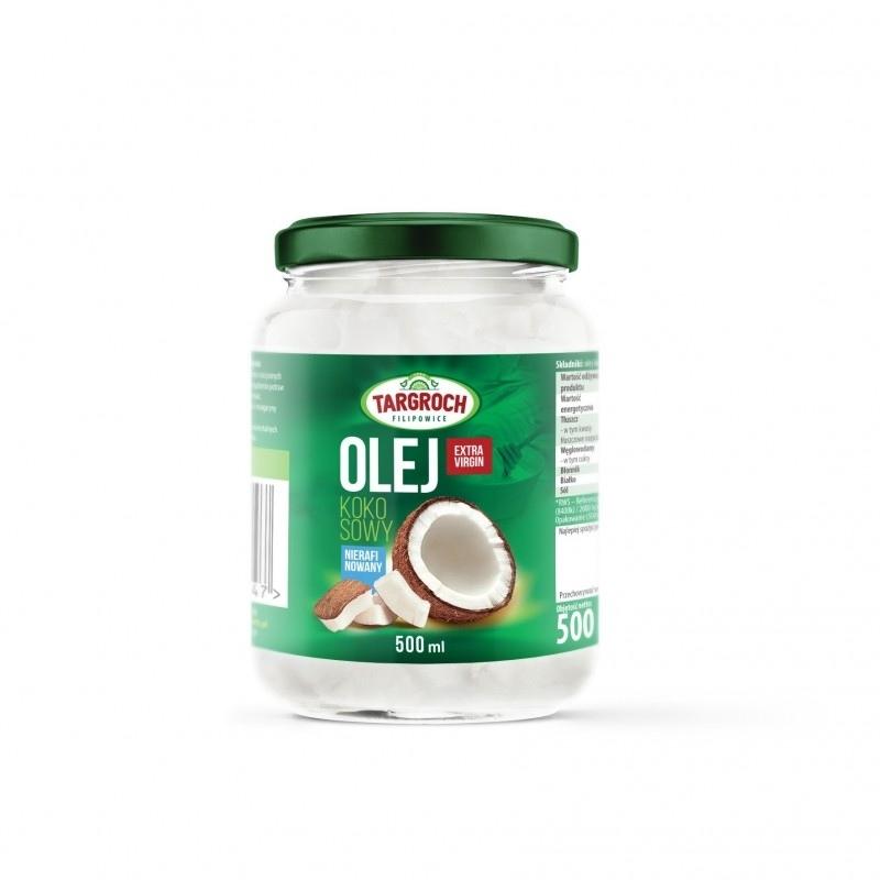 TARGROCH Olej Kokosowy Nierafinowany 500ml