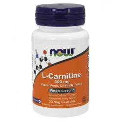 NOW FOODS L-Carnitine 500mg 30 kaps.
