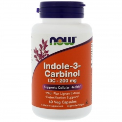 NOW FOODS Indole-3-Carbinol (I3C) 200mg 60 weg.kaps.(30.08.2019)