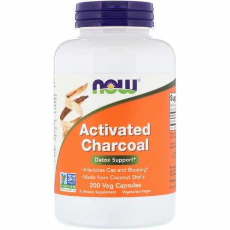 NOW FOODS Activated Charcoal 200 vcaps.