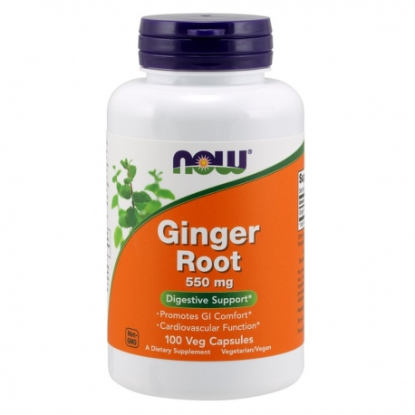 NOW FOODS Ginger Root 550mg 100 vcaps.